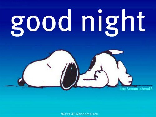 Good Night Snoopy 187 Newtribez Net Empowering You