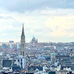 Brussels, looking towards the Grand Place/Grote Markt